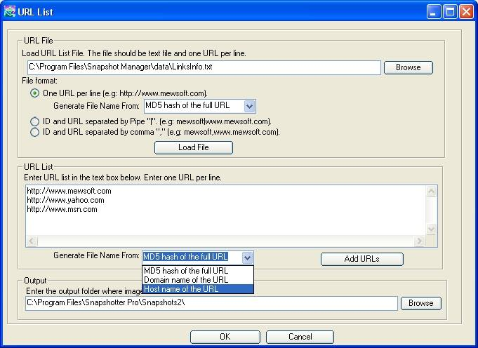 Snapshotter Pro - Directory, Website and Webpage Screenshot